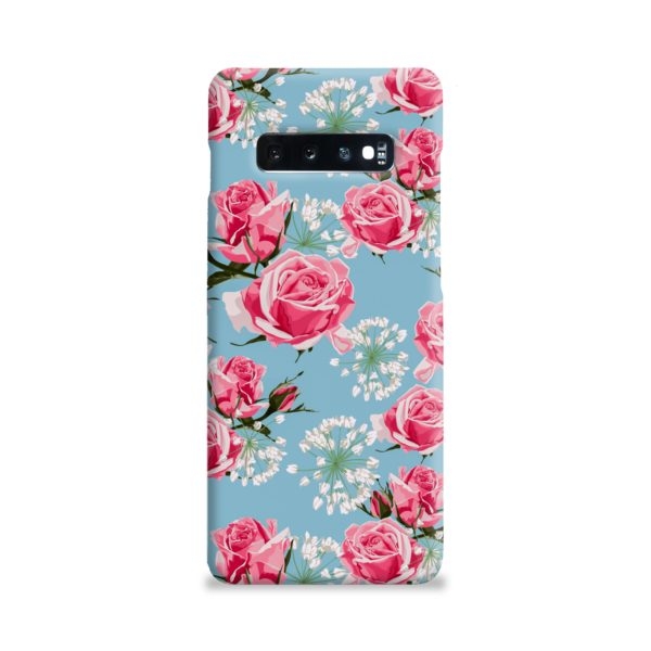 Beautiful Pink Roses Samsung Galaxy S10 Plus Case Cover