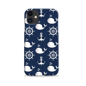 Blue Nautical Anchor Marine Sea iPhone 11 Case