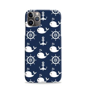 Blue Nautical Anchor Marine Sea iPhone 11 Pro Case Cover