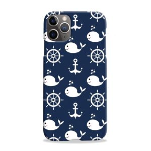 Blue Nautical Anchor Marine Sea iPhone 11 Pro Max Case