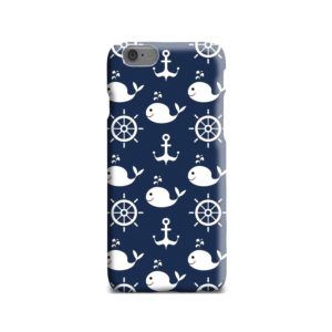 Blue Nautical Anchor Marine Sea iPhone 6 Case Cover