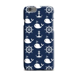 Blue Nautical Anchor Marine Sea iPhone 6 Plus Case Cover