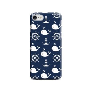 Blue Nautical Anchor Marine Sea iPhone 7 Case Cover