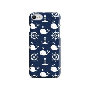 Blue Nautical Anchor Marine Sea iPhone 8 Case Cover