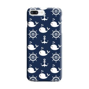 Blue Nautical Anchor Marine Sea iPhone 8 Plus Case Cover