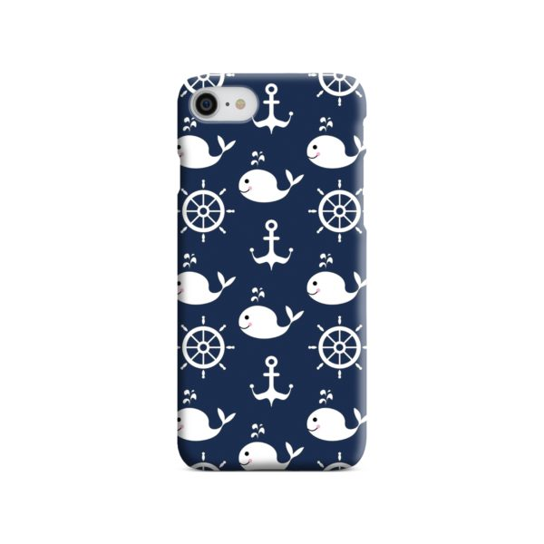 Blue Nautical Anchor Marine Sea iPhone SE Case