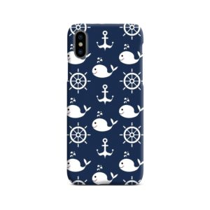 Blue Nautical Anchor Marine Sea iPhone X / XS Case