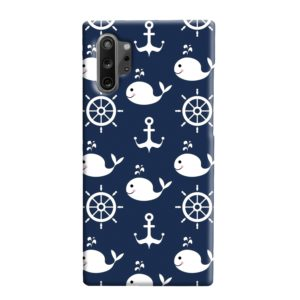 Blue Nautical Anchor Marine Sea Samsung Galaxy Note 10 Plus Case Cover