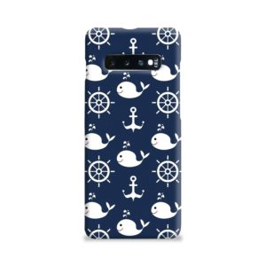 Blue Nautical Anchor Marine Sea Samsung Galaxy S10 Plus Case