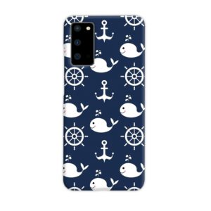 Blue Nautical Anchor Marine Sea Samsung Galaxy S20 Case