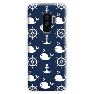 Blue Nautical Anchor Marine Sea Samsung Galaxy S9 Plus Case