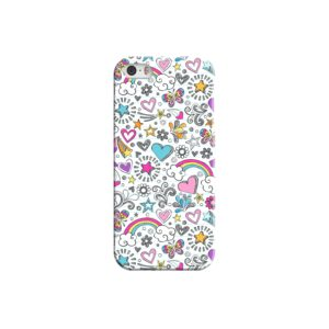 Butterfly Rainbow Doodles iPhone 5 Case Cover