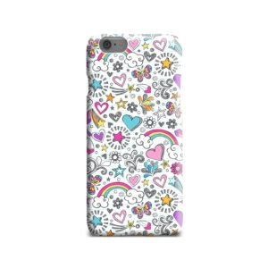 Butterfly Rainbow Doodles iPhone 6 Case