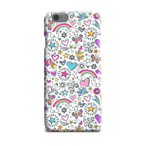 Butterfly Rainbow Doodles iPhone 6 Plus Case Cover