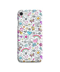 Butterfly Rainbow Doodles iPhone 7 Case