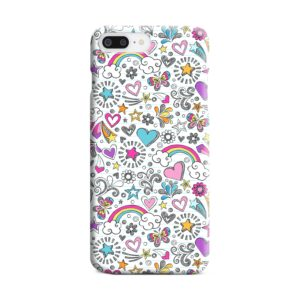 Butterfly Rainbow Doodles iPhone 7 Plus Case