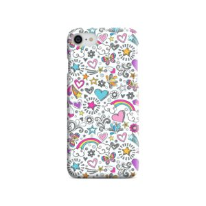 Butterfly Rainbow Doodles iPhone 8 Case