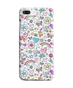 Butterfly Rainbow Doodles iPhone 8 Plus Case Cover