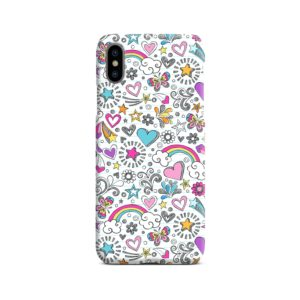 Butterfly Rainbow Doodles iPhone X / XS Case Cover