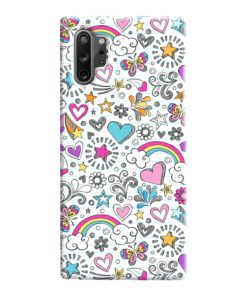 Butterfly Rainbow Doodles Samsung Galaxy Note 10 Case Cover