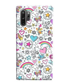 Butterfly Rainbow Doodles Samsung Galaxy Note 10 Plus Case