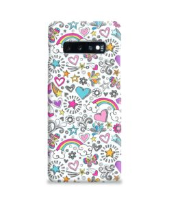 Butterfly Rainbow Doodles Samsung Galaxy S10 Plus Case