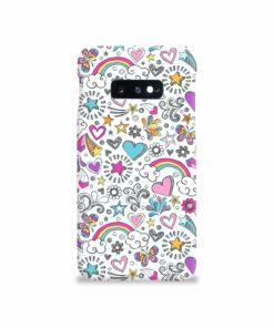Butterfly Rainbow Doodles Samsung Galaxy S10e Case Cover