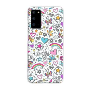 Butterfly Rainbow Doodles Samsung Galaxy S20 Case Cover