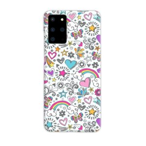 Butterfly Rainbow Doodles Samsung Galaxy S20 Plus Case
