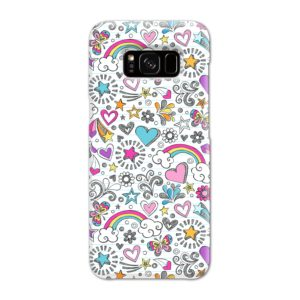 Butterfly Rainbow Doodles Samsung Galaxy S8 Case