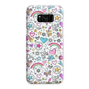 Butterfly Rainbow Doodles Samsung Galaxy S8 Plus Case Cover
