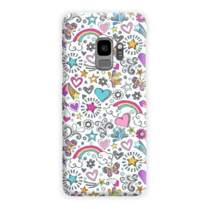 Butterfly Rainbow Doodles Samsung Galaxy S9 Case