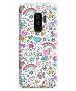 Butterfly Rainbow Doodles Samsung Galaxy S9 Plus Case