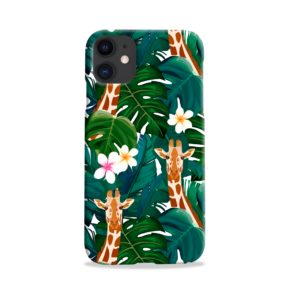 Exotic Giraffe Leaf iPhone 11 Case
