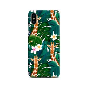 Exotic Giraffe Leaf iPhone X / XS Case