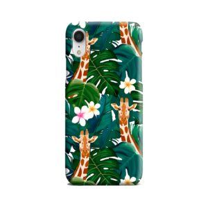 Exotic Giraffe Leaf iPhone XR Case