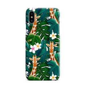 Exotic Giraffe Leaf iPhone XS Max Case Cover