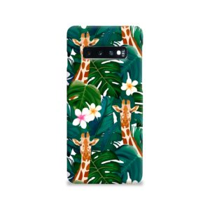 Exotic Giraffe Leaf Samsung Galaxy S10 Case