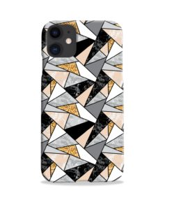Geometric Black and Gold Marble iPhone 11 Case