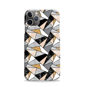 Geometric Black and Gold Marble iPhone 11 Pro Case Cover