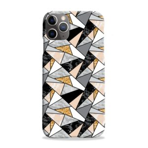Geometric Black and Gold Marble iPhone 11 Pro Max Case