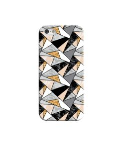 Geometric Black and Gold Marble iPhone 5 Case Cover