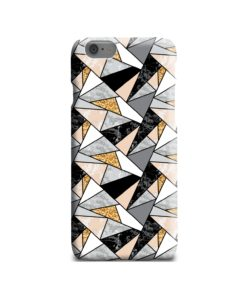Geometric Black and Gold Marble iPhone 6 Case