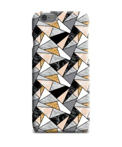Geometric Black and Gold Marble iPhone 6 Plus Case