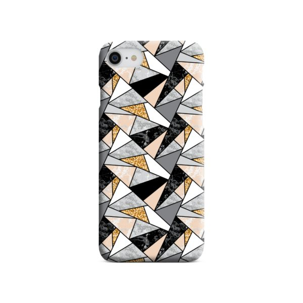 Geometric Black and Gold Marble iPhone 7 Case Cover