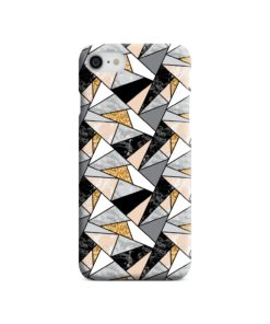 Geometric Black and Gold Marble iPhone 8 Case