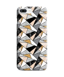 Geometric Black and Gold Marble iPhone 8 Plus Case Cover