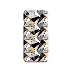 Geometric Black and Gold Marble iPhone SE Case Cover