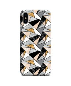Geometric Black and Gold Marble iPhone X / XS Case