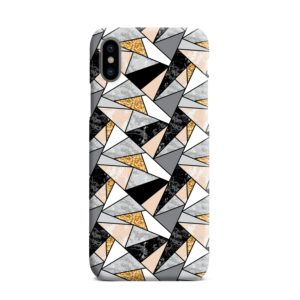 Geometric Black and Gold Marble iPhone XS Max Case